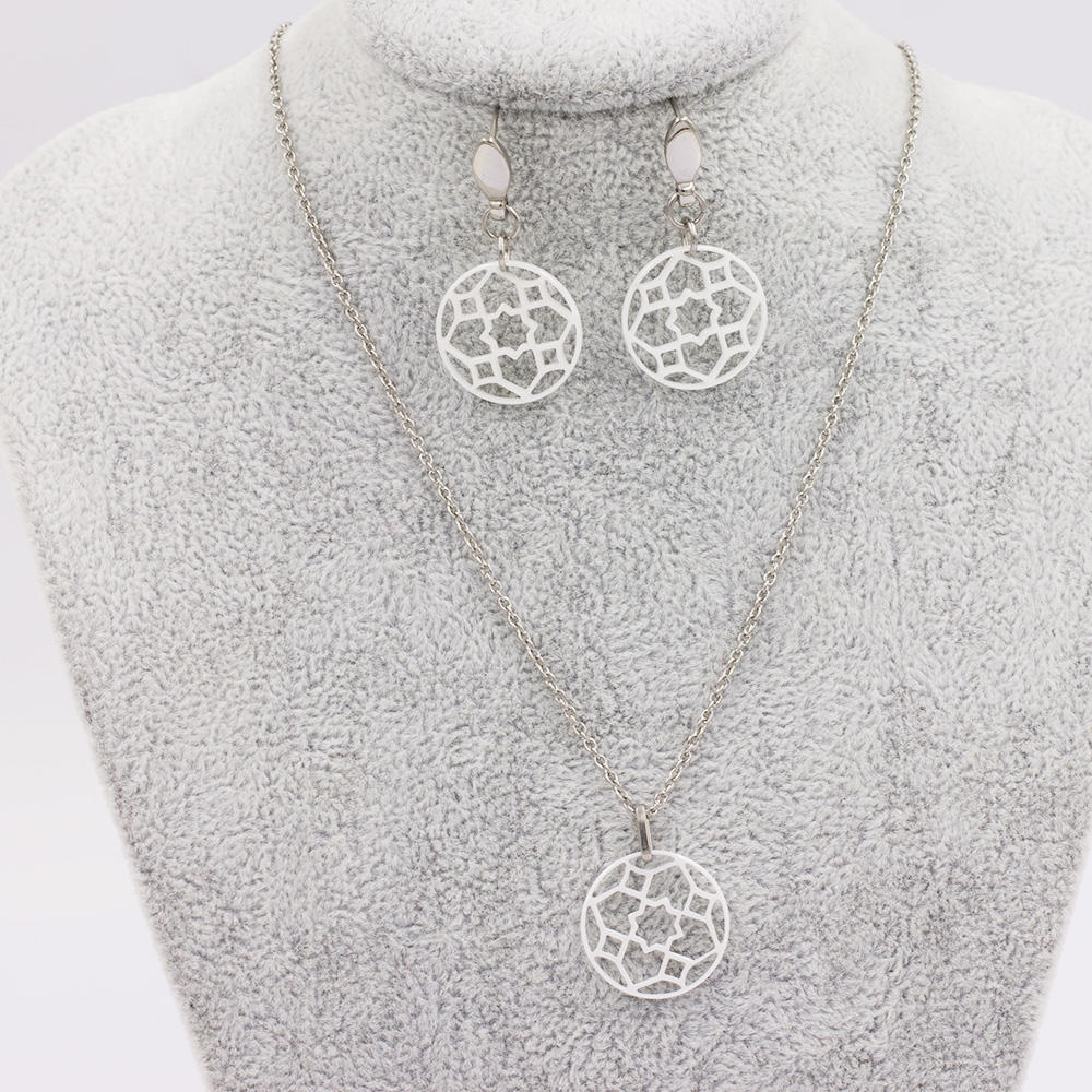 Custome jewelry necklace and earring set crystal jewelry set earrings for women jewelry setVD057503-676