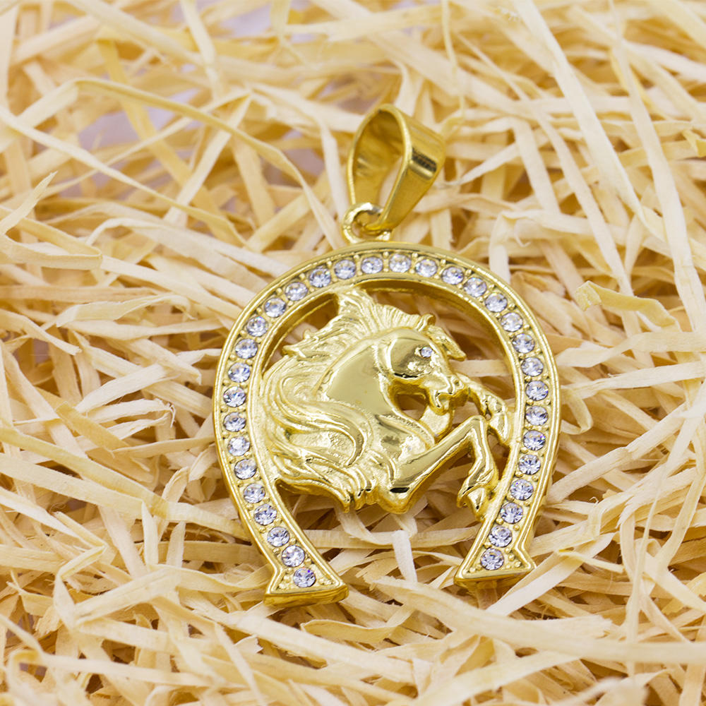 Gold plated pendant necklace pendant jewelry in China VD057782-640