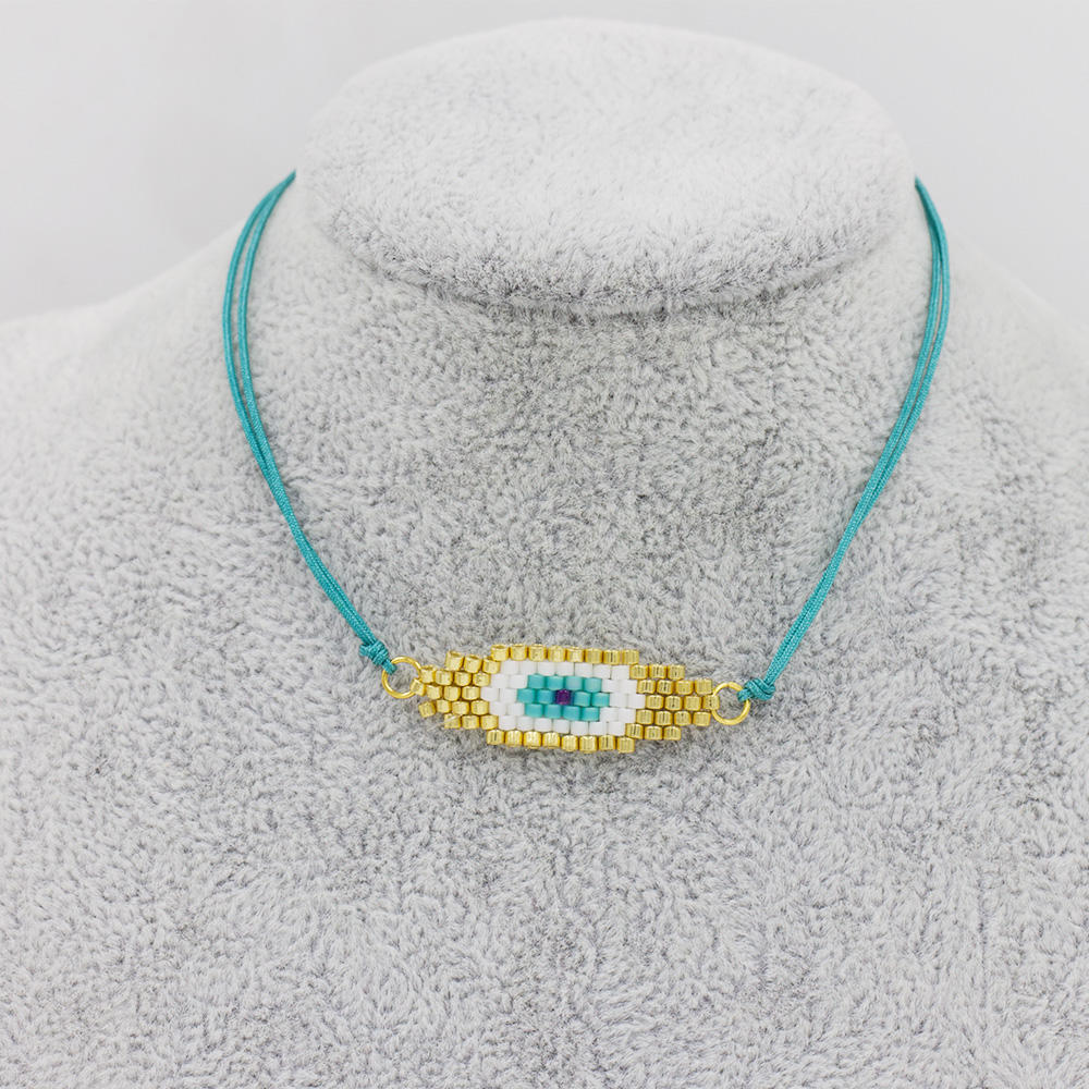 Lowest MOQ blue eye bracelet,oem custom bracelet jewelry box AW00053bhil-415