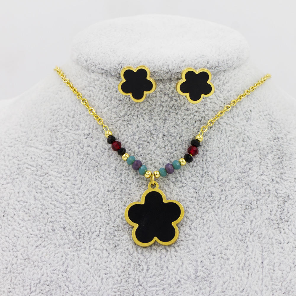Flower jewelry necklaces set for women AW00047vhhl-415