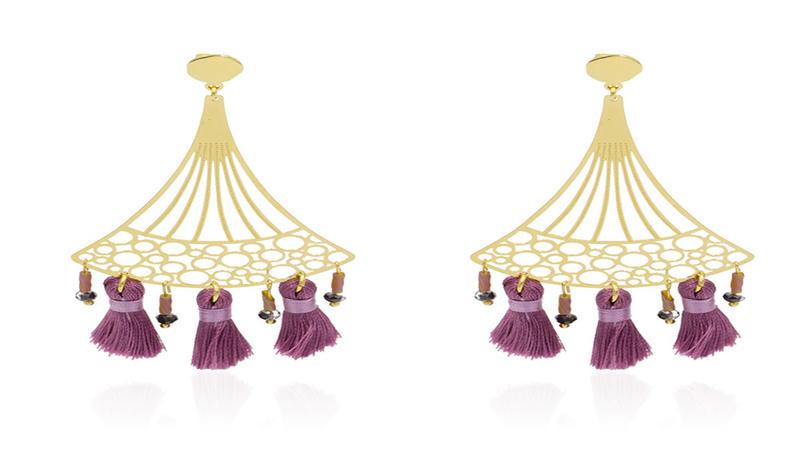 Exquisite korean golden earrings tassel earrings jewelry