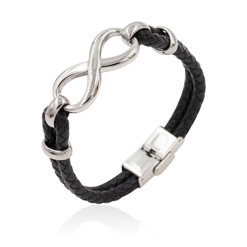 High quality fashion men's leather wrap bracelet charm bracelet - AW00291-673