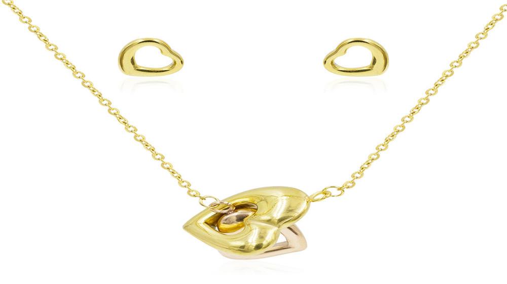 Fashion sweetheart Dubai women gold jewelry set
