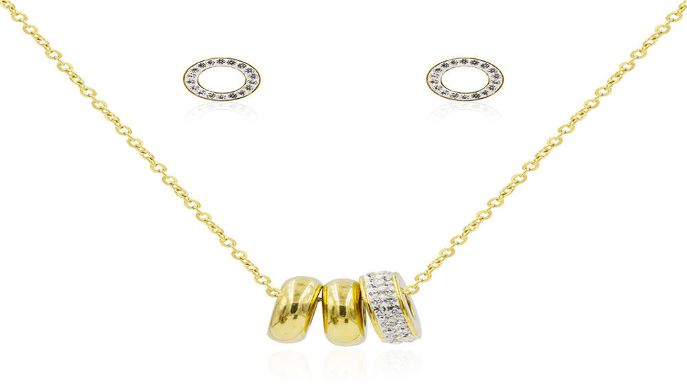 High quality three-round women accessories women crystal set