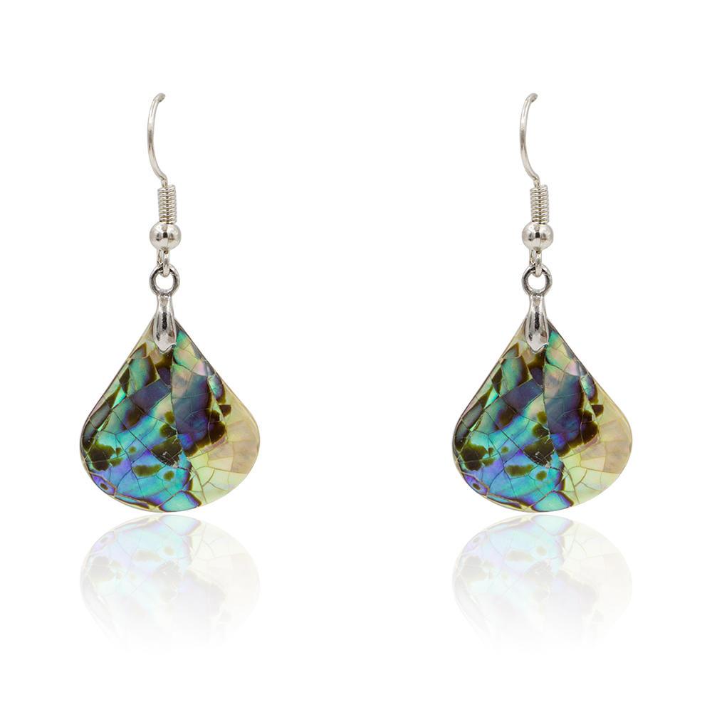 Ladies fashion shell hook teardrop dangle earrings jewelry - AW00362vhha-627