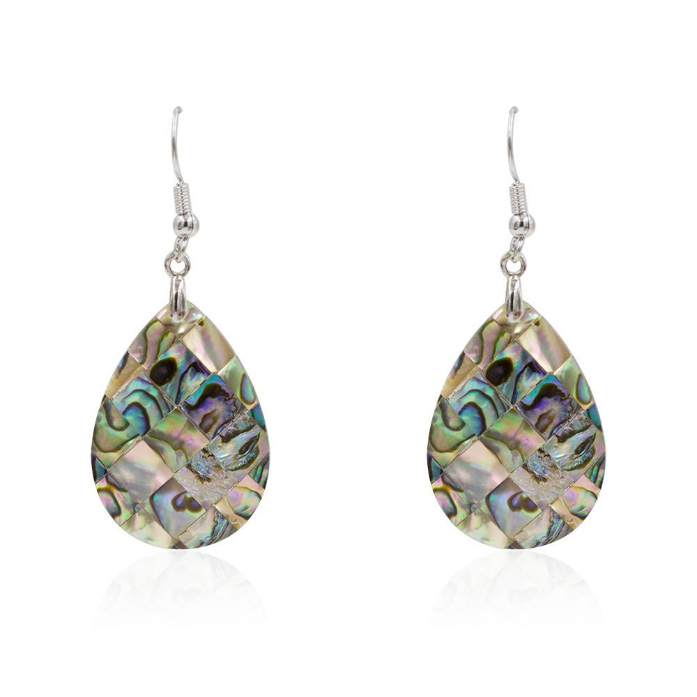 Women stainless steel fashion drop shell dangle earrings wholesale - AW00363vhha-627