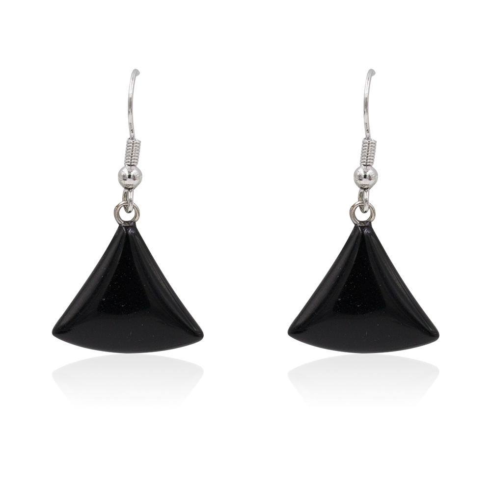 Fashion jewelry daily charm earrings with black pendant for women - AW00367bhva-627