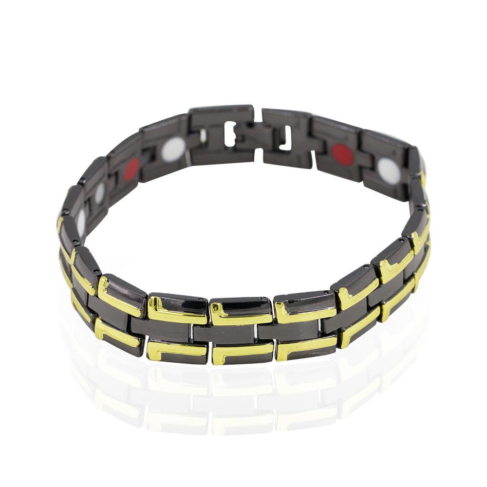 Stainless steel health energy men's magnetic fashion bracelet - AW00392bhva-244