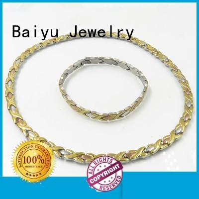 color necklace and bracelet color for wedding Baiyu Jewelry