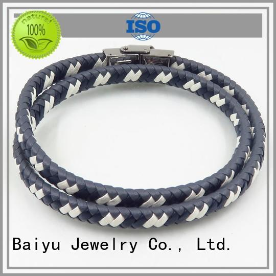 Baiyu Jewelry high-end leather bangle bracelets high quality for gift