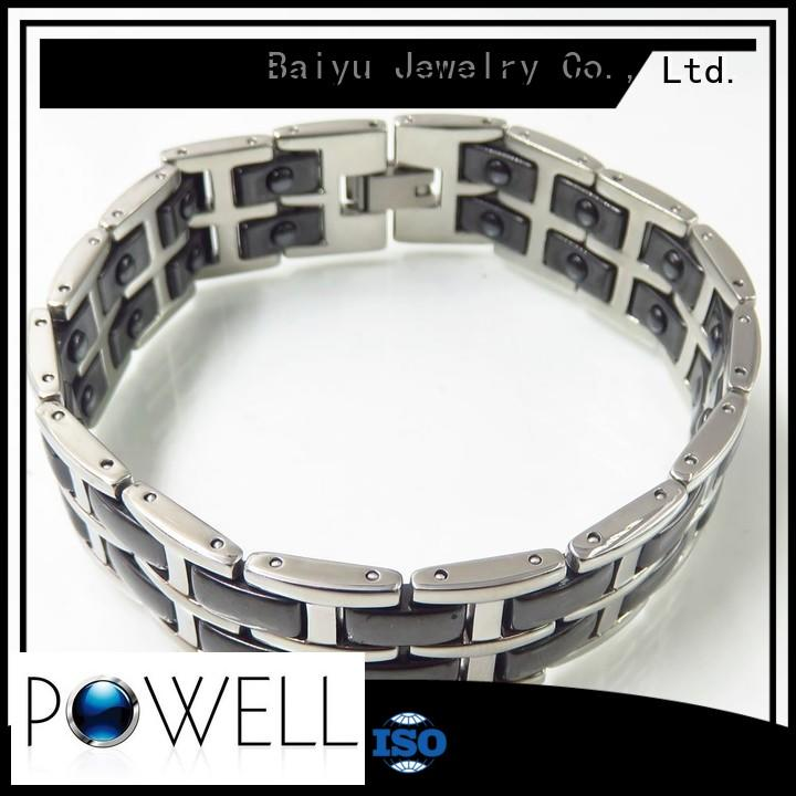 Baiyu Jewelry Brand double ceramic bracelet layer factory