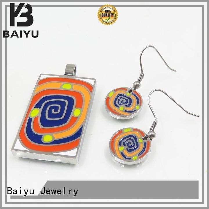 Baiyu Jewelry latest antique enamel jewelry with crystal with diamond