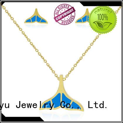 long stainless jewelry set aw00043aima371 for friendship Baiyu Jewelry