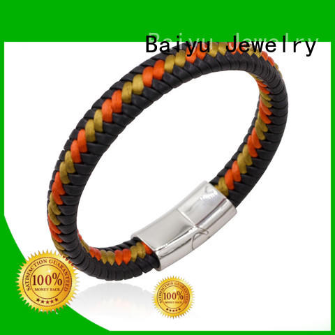 hot-sale mens leather bangle top brand for gift