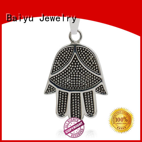 choker stainless steel pendant green gemstone for women Baiyu Jewelry