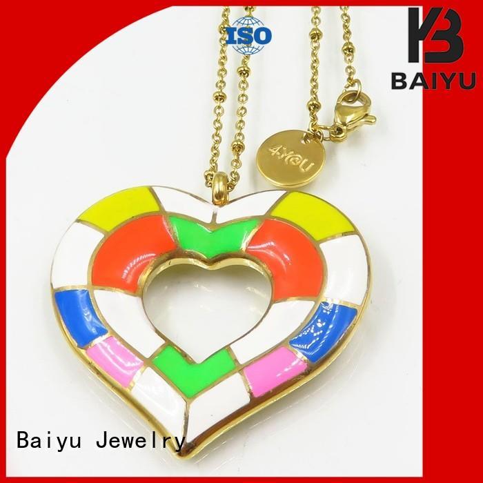 Baiyu Jewelry oil drop process enamel necklace auspicious for friend