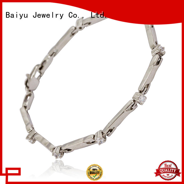 Baiyu Jewelry factory price women's stainless steel bangle bracelet best manufacturer for lovers