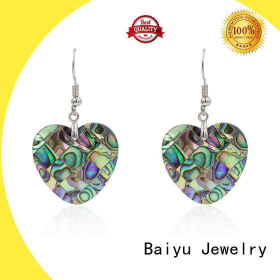 Baiyu Jewelry lovely elegant dangle earrings hot sale for girl