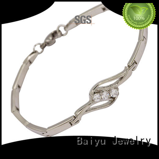 Baiyu Jewelry hot-sale stainless steel bracelets for ladies custom for women