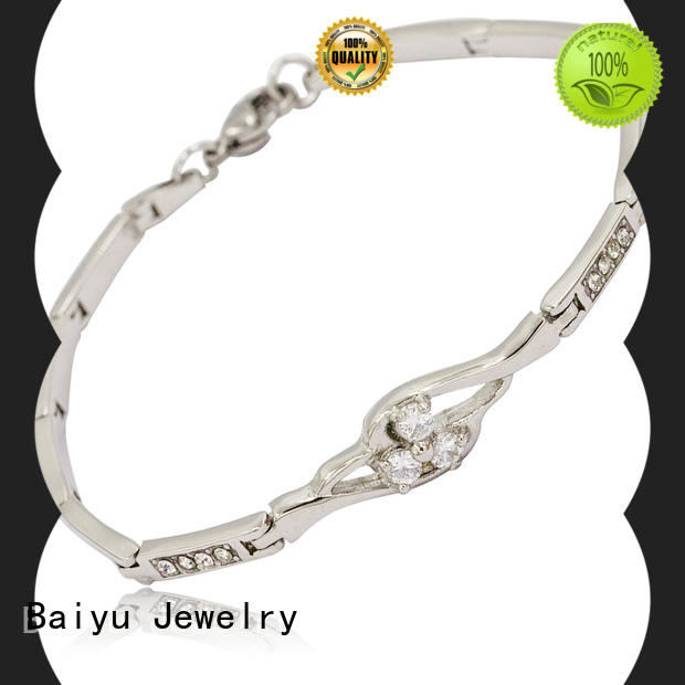 Baiyu Jewelry Wholesale stainless steel bracelets for ladies for business
