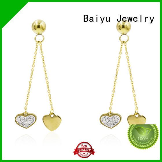 modern dangle earrings with jewelry Baiyu Jewelry
