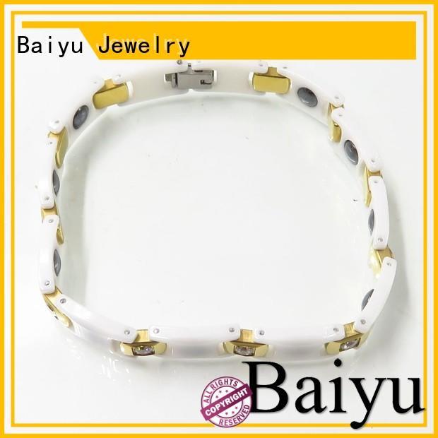 ceramic layer fashion negative Baiyu Jewelry Brand ceramic bracelet supplier