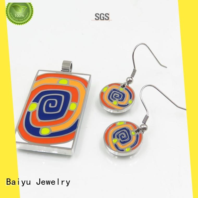 modern antique enamel jewelry colorful for bridal