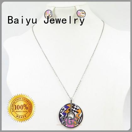 fashion enamel jewelry sets material for gifts Baiyu Jewelry
