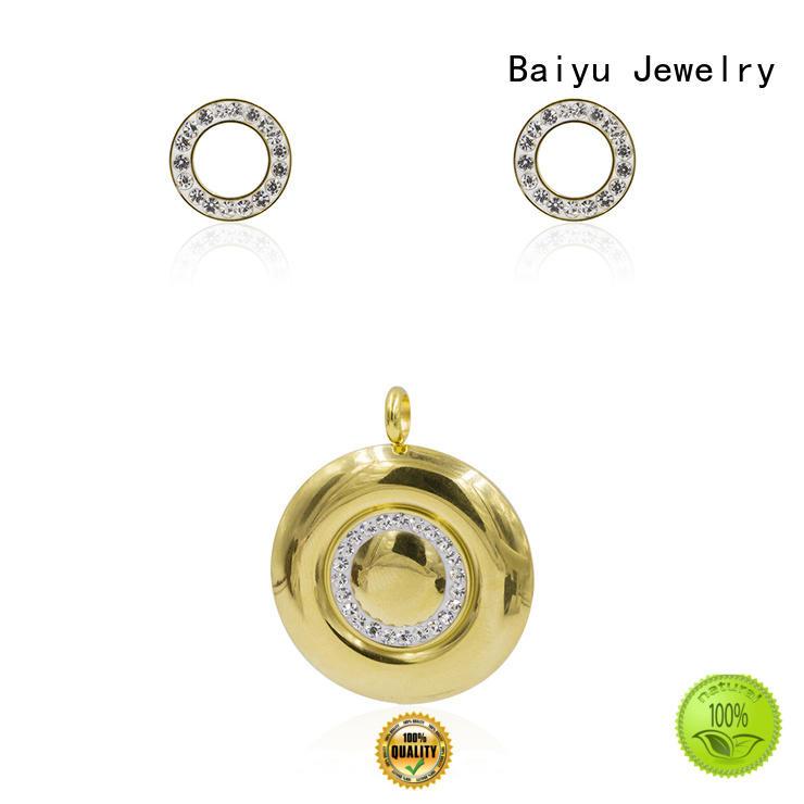 Baiyu Jewelry woman stainless steel jewelry set parrot for friendship