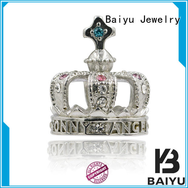 Baiyu Jewelry ruby stainless steel pendant high-quality for girls