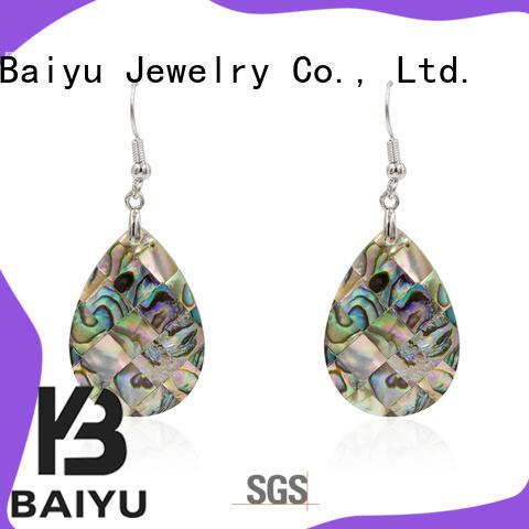 dangle drop earrings triangle shaped for gifts Baiyu Jewelry