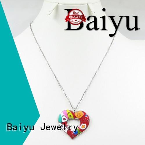 Quality Baiyu Jewelry Brand blue enamel necklace jewellery