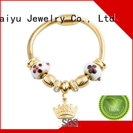 fashion stainless steel engravable bracelets by bulk for girl