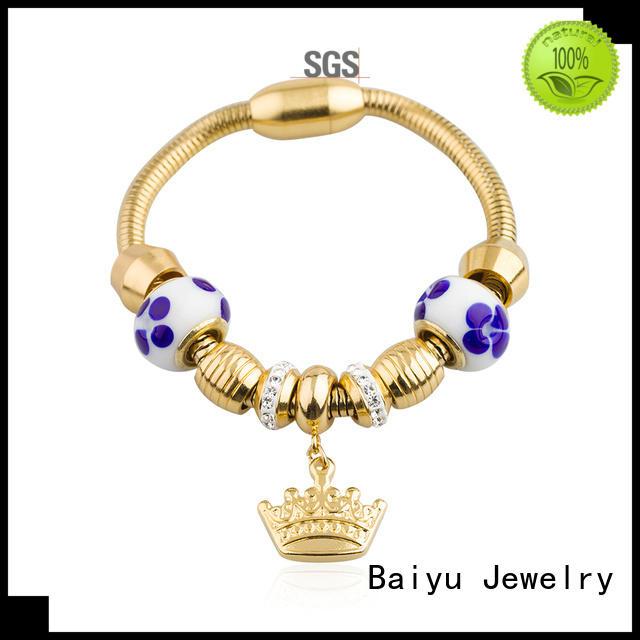 Baiyu Jewelry on-sale stainless steel cuff bracelet bulk production for lady