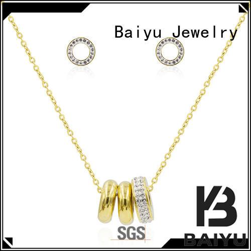 costume stainless steel jewelry chain luck bird for anniversary Baiyu Jewelry