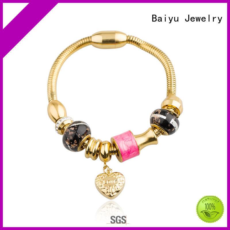 Baiyu Jewelry stainless steel engravable bracelets by bulk for girl