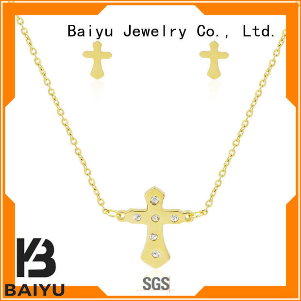 Baiyu Jewelry fashion stainless steel jewelry chain colorful for anniversary