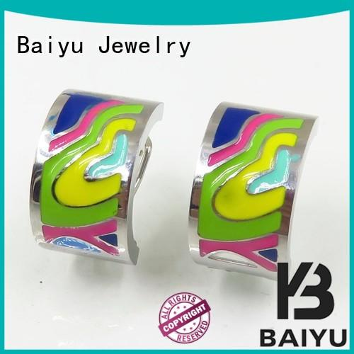 Baiyu Jewelry odm mens stainless steel stud earrings arabic for mother