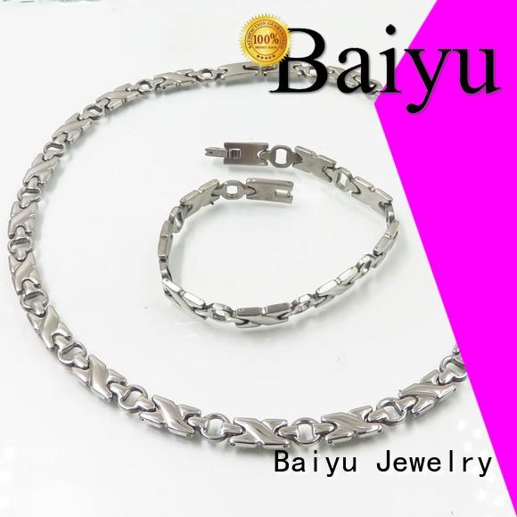quality shop men stainless steel jewelry set steel Baiyu Jewelry Brand