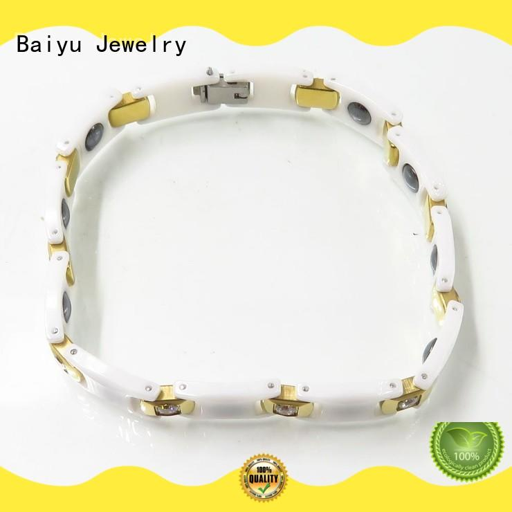 color ceramic mens bracelet steel for girls Baiyu Jewelry