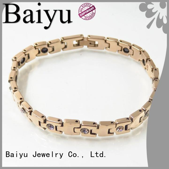 Baiyu Jewelry Brand healthy ceramic bracelet negative factory