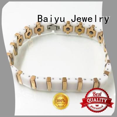 popular ceramic magnetic bracelet for girls Baiyu Jewelry