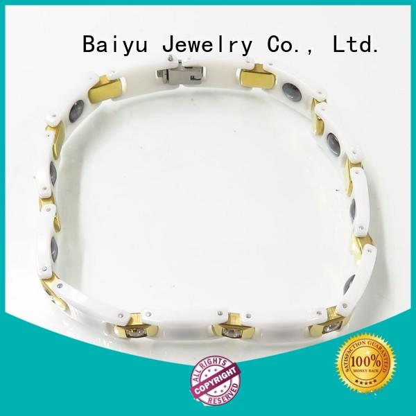 Baiyu Jewelry popular mens ceramic bracelet high quality for gift