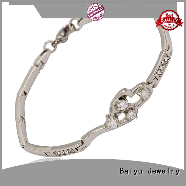 Baiyu Jewelry stainless steel bracelets for ladies for business