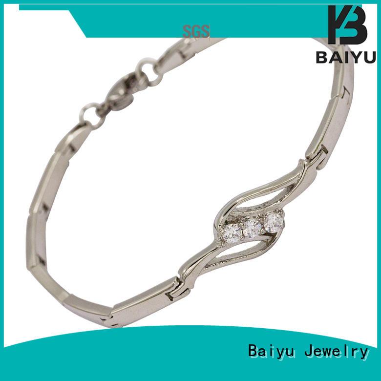 Baiyu Jewelry factory price womens metal bracelet for women