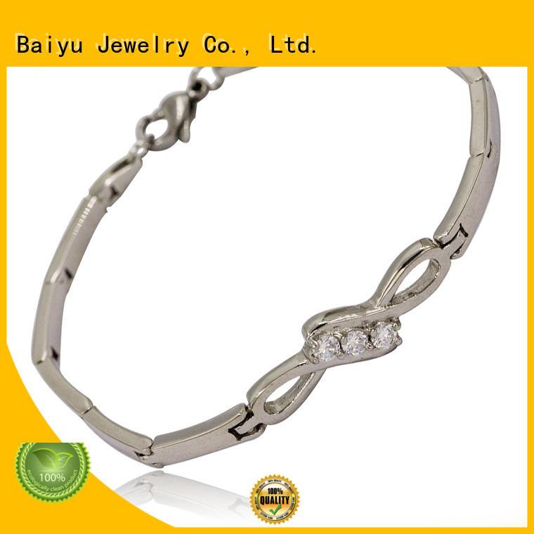 Baiyu Jewelry hot-sale women's stainless steel bangle bracelet best supplier for boys