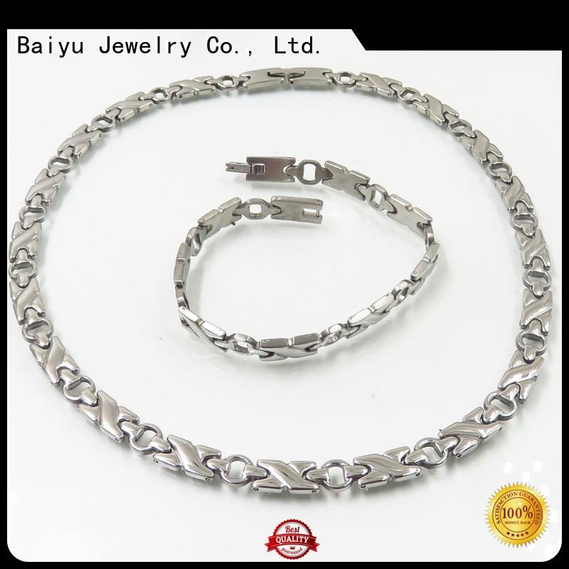 Baiyu Jewelry necklace and bracelet set sale opal for women