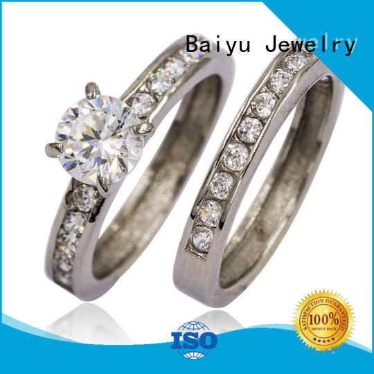 Baiyu Jewelry bulk stainless steel couple rings jewels for wife