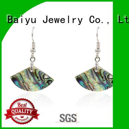 Baiyu Jewelry double circle beautiful dangle earrings plating with jewelry