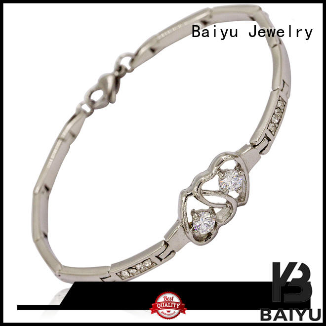 Baiyu Jewelry cheap stainless steel bracelets for ladies bulk production for boys